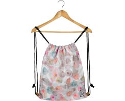 The Pack Society Gymsack Off White Petals Allover