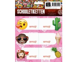 Etiketten Emoji Girls schoollabels